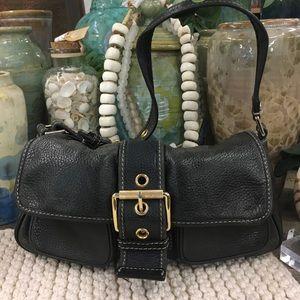 Micheal Micheal Kors black leather bag